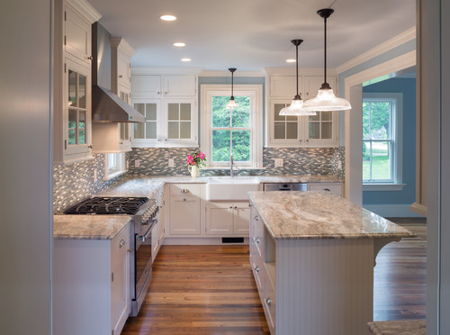 What Goes With Black Kitchen Cabinets Alpine White Granite | Granite Countertops, Granite Slabs