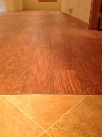 Porcelain Floor Tile - Simulated Wood Flooring - Basement ...