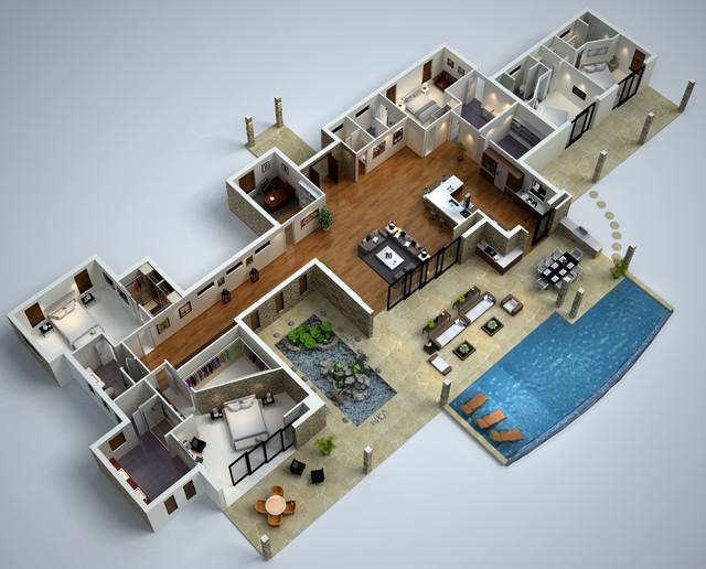 3d Floor Plans Floor Plan Brisbane By Budde Design