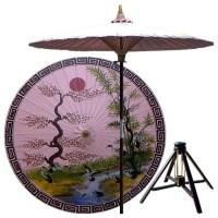 Asian Spring Patio Umbrella in Pristine Pink - Asian ...