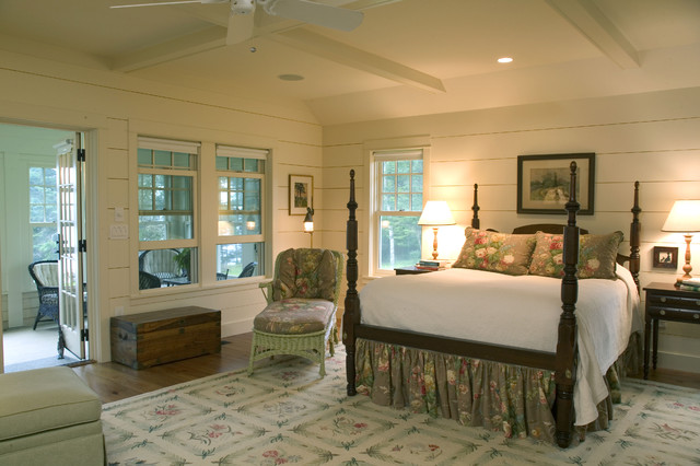 A new maine quot cottage quot traditional bedroom