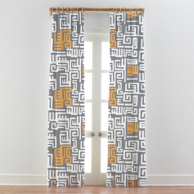 Tribal african curtains drapes kuba cloth modern curtains