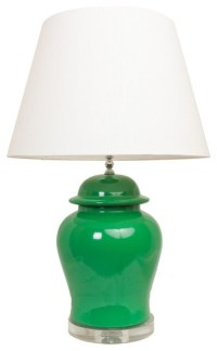 Green Ginger Jar Lamp - Asian - Table Lamps - by Society ...