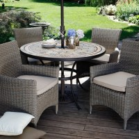 Palazetto Barcelona Mosaic and Wicker Chairs Patio Dining ...