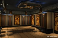 Art Deco Home Theater - Contemporary - Rendering - new ...