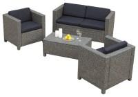 Venice 4-Piece Outdoor Wicker Sofa Set - Contemporary ...