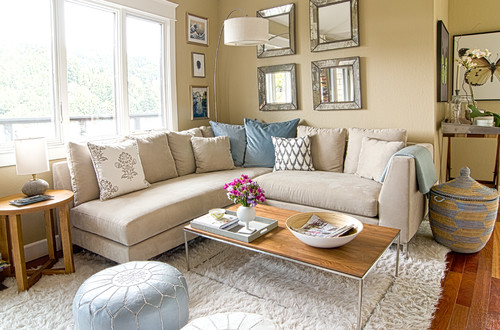 Tips for Making a Small Room Look Bigger With Mirrors - how to make a small living room look bigger