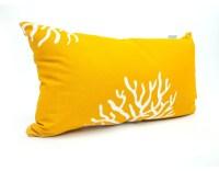 Outdoor Yellow Coral Small Pillow - Tropical - Outdoor ...