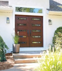 Mid Century Modern Double Front Doors
