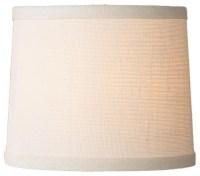 10 Inch White Burlap Drum Shade - Lamp Shades - by Shades ...