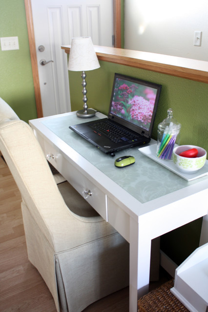 Houzz Rugs White Console Table Turned Desk