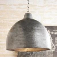 Hammered Steel Oversized Dome Pendant - Pendant Lighting ...