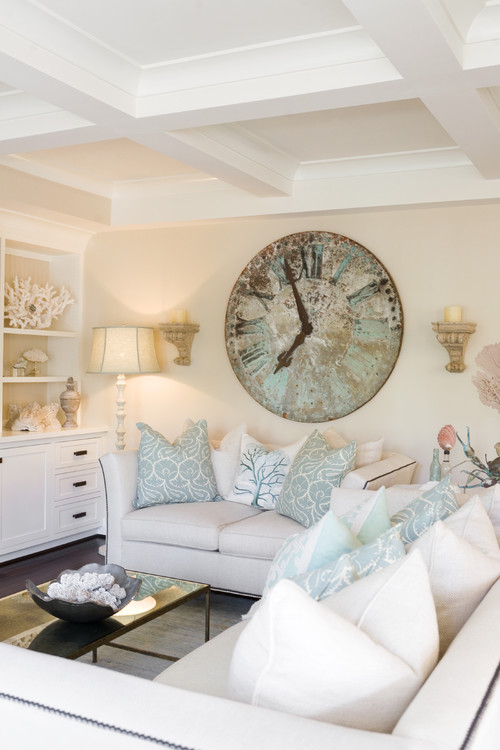 Crazy for Wall Clocks - Town \ Country Living - living room clock