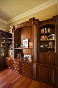 Bay Area executive home office design with mahogany custom ...