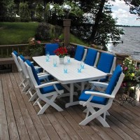 Dining Table: Recycled Plastic Outdoor Dining Table