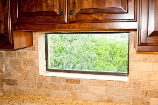 backsplash window mediterranean kitchen houston collinas glass tile backsplash slightly glitzier alternative