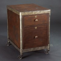 Structure Rolling File Cabinet in Heavily Distressed Brown ...