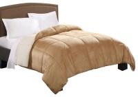 Micro Mink Reversible Twin Comforter - Camel/Ivory ...