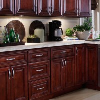 U Haul Self Storage: Mahogany Kitchen Cabinets