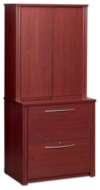 Bestar Embassy 2-Drawer Lateral Wood File Cabinet with ...