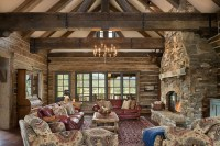 Dovetail Ranch house 1 - Traditional - Living Room - other ...