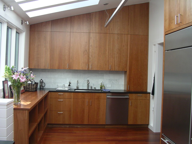 solid cherry cabinets marble subway tile backsplash stainless steel kitchen backsplash ideas cherry cabinets cherry kitchen cabinets
