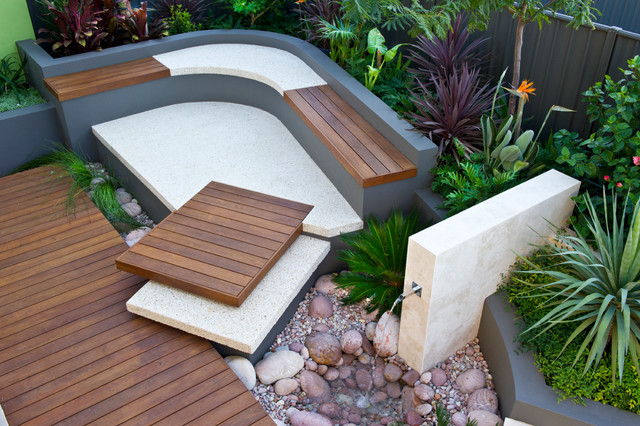 Patio Lighting Ideas Perth Urban courtyards - Contemporary - Patio - other metro - by Cultivart Landscape Design