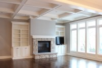 Great Room with Coffered Ceiling - Traditional - Family ...