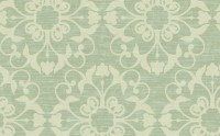 Damask Texture Effects Wallpaper, Ivory and Green ...