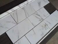 """Calacatta Borghini Italian Marble 6x12"""" Subway Tile ..."""