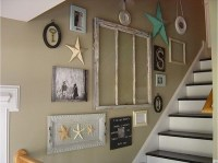 staircase wall decorating ideas - Beach Style - Staircase ...