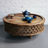 Carved Wood Coffee Table - Eclectic - Coffee Tables - by ...