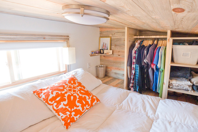 Hanging Loft Bed Tiny House Loft Queen Bed - Contemporary - Bedroom - san francisco - by The Tiny Project