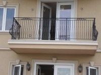 Exterior Wrought Iron Fence, Staircase and Balcony