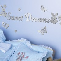 Mirrored Sweet Dreams Wall Decals - Wall Decals - san ...