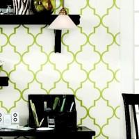 Trellis Wallpaper -Green Double Roll - Ballard Designs ...