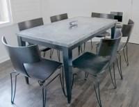 Custom Zinc Top kitchen table in painted oak ...