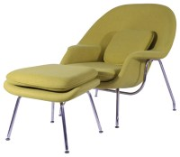 Comfy Chair and Ottoman Set in Aged Yellow - Midcentury ...