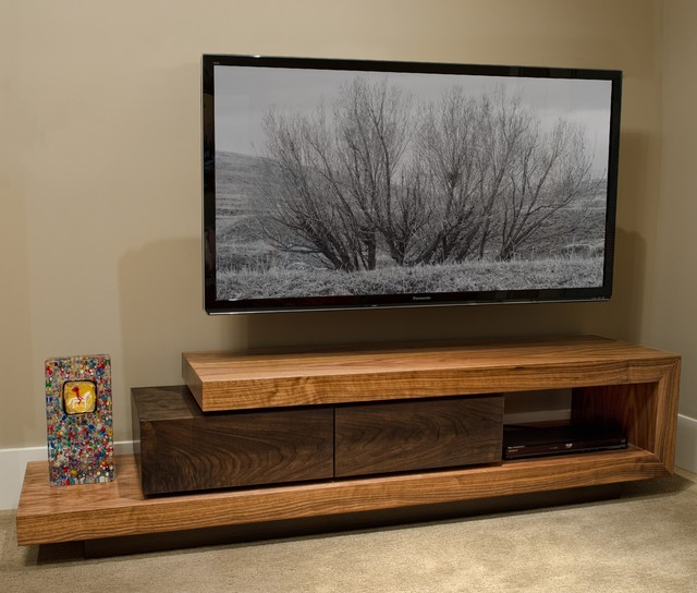 Walnut Tv Stand Contemporary Buffets And Sideboards - Tv Sideboard