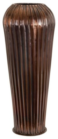 Tall 28 in. Brown Floor Vase - Contemporary - Vases - by ...