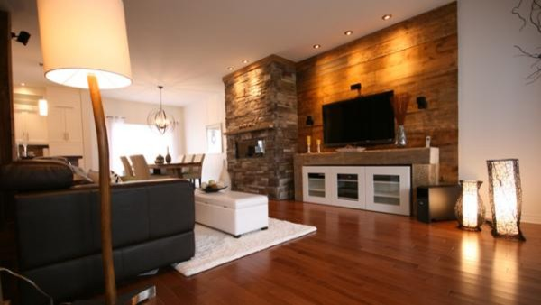 wooden apartment in hong kong 10 beautiful living room spaces - wood wall living room