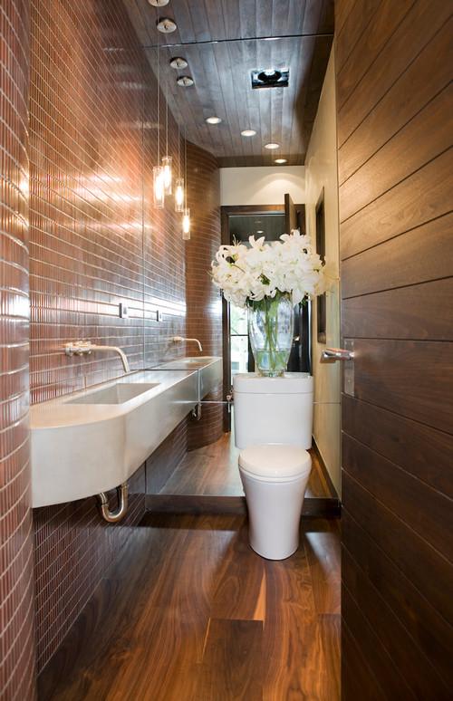 12 Design Tips To Make A Small Bathroom Better - narrow bathroom ideas