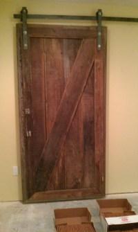 Barnwood Sliding Doors for Basement Project