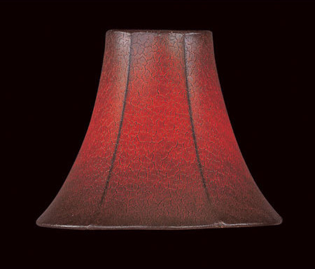 Lite Source Pleated Lamp Shades Lite Source CH519-6 Accessories Shades in Burgundy Parchment - Lamp Shades - by Lighting New York