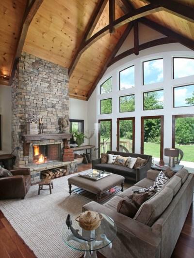 Dragonfly Lodge - Contemporary - Living Room - atlanta ...