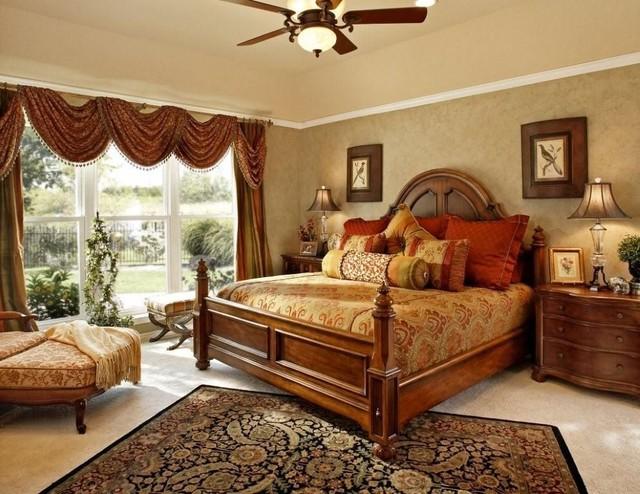 Romantic master bedroom traditional bedroom