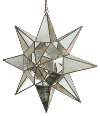 Antiqued Glass and Mirrors Hanging Star Light - Eclectic ...