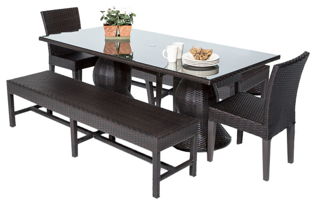 24 Luxury Patio Dining Sets With Bench Seating Pixelmaricom