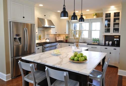 Transitional kitchen, Kitchen Pendants