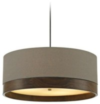 Tech Top Charcoal Gray Drum Shade Suspension Ceiling Light